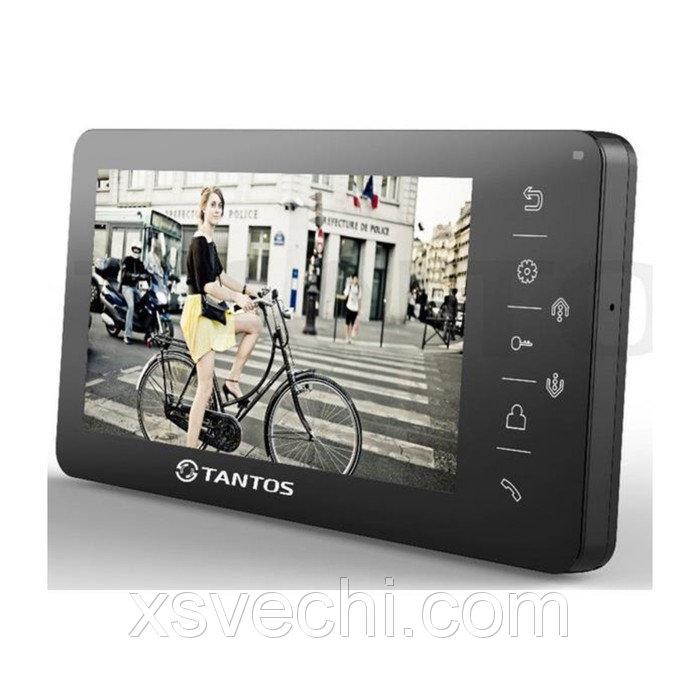 """Монитор видеодомофона Tantos Amelie VIZIT, 7"""", подключение камер, для систем Vizit, черный"""