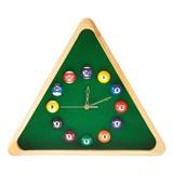 """Часы настенные """"Треугольник"""" (дуб) 40 см х 35 см, деревянные, интернет-магазин товаров для бильярда Play-billiard.ru"""