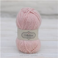 Пряжа Lamauld Розовый нежный 6030, 100м/50г, CaMaRose, Lys rosa