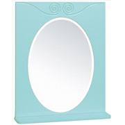 Зеркало с полочкой  Винтаж 60 цвет лазурный