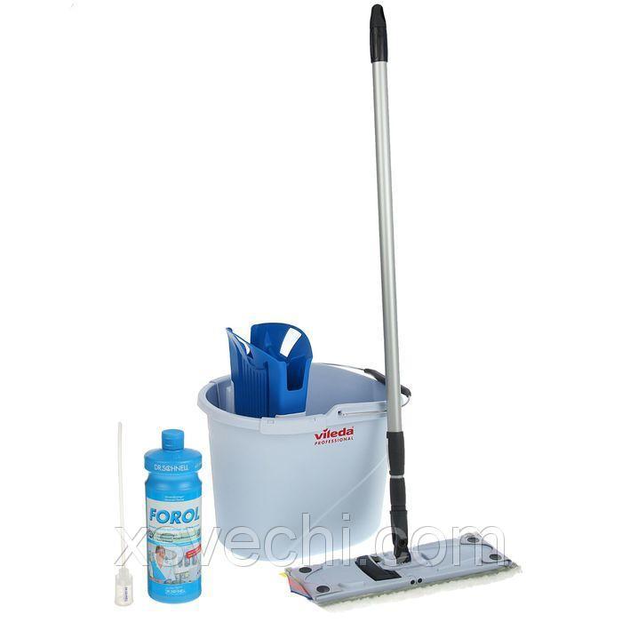 """Набор """"УльтраСпид. Мини"""": ведро, отжим для ведра, держатель мопа, моп, ручка телескопическая (моющее средство в подарок)"""