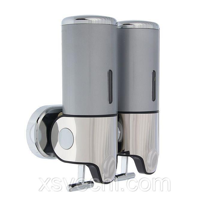 Диспенсер жидкого мыла механический 800 мл, металл, цвет серый