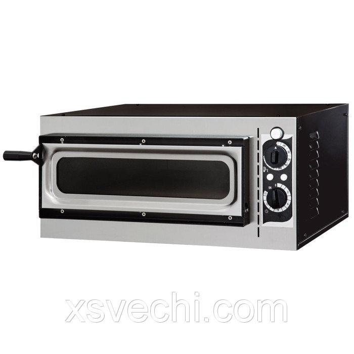 Печь для пиццы Gemlux GEP 1/40 VETRO, 50-320°С, таймер 0-15 мин