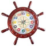 """Часы настенные """"Штурвал"""" 50 см х 50 см, деревянные, интернет-магазин товаров для бильярда Play-billiard.ru"""