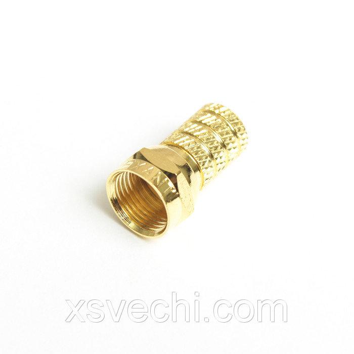 F разъем Proconnect 05-4003-5-9, gold, упаковка 5 шт
