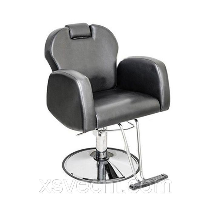 """Парикмахерское кресло """"Статус"""", гидравлический подъемник, диск с подставкой для ног, цвет чёрный"""