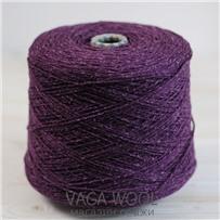 Пряжа City, 028 Пурпур, 144м/50г, шерсть ягнёнка, шёлк, Vaga Wool