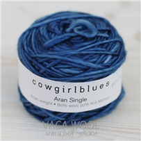 Пряжа Aran Single solid Танзанит, 120м/100г., Cowgirlblues, Tanzanite