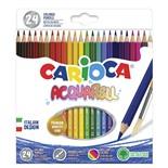 Карандаши цветные акварельные Carioca Acquarell 24 цвета 42858