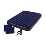 Надувная кровать Intex 64765 + 2 подушки и насос
