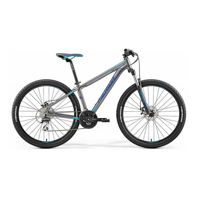 Велосипед Merida Big Seven 20-MD Silk Antracite (Sky Blue/Blue) 2018, интернет-магазин Sportcoast.ru