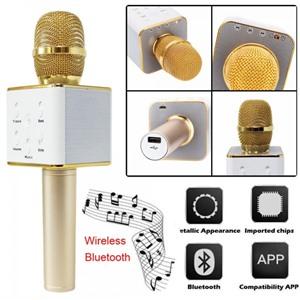 Беспроводной караоке микрофон Micgeek Q7 золото