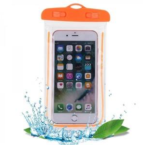 Чехол водонепроницаемый светящийся для мобильных телефонов оранжевый