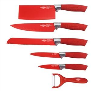 """Набор антибактериальных ножей """"Swiss Gold"""", красное покрытие, 6 предметов"""