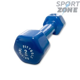 Гантель в виниловой оболочке 2 кг (Цвет - синий)