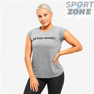 Футболка Better Bodies Astoria tee LIMITED EDITION Bazili0, серый меланж