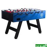 Weekend Настольный футбол (кикер) «Milan» (144 х 75,6, х 90 см, сине-черный), интернет-магазин товаров для бильярда Play-billiard.ru