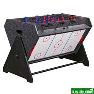 Weekend Стол-трансформер «Vortex 3-in-1» (3 игры: аэрохоккей, футбол, бильярд, 127 х 78.7 х 86.4 см, серый), интернет-магазин товаров для бильярда Play-billiard.ru. Фото 1