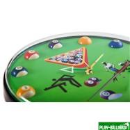 Weekend Часы настенные «12 шаров» D32 см (зеленые), пластик, интернет-магазин товаров для бильярда Play-billiard.ru. Фото 2