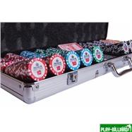Набор для покера Premium Crown на 500 фишек, интернет-магазин товаров для бильярда Play-billiard.ru. Фото 2