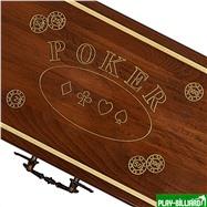 Резной кейс POKER на 500 фишек, Haleyan, интернет-магазин товаров для бильярда Play-billiard.ru. Фото 2