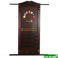 Weekend Киевница навесная с полкой для шаров (махагон, 137 х 99 х 8 см), интернет-магазин товаров для бильярда Play-billiard.ru
