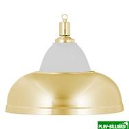 Weekend Лампа на один плафон «Crown» (золотистая чашка, золотистый плафон D38см), интернет-магазин товаров для бильярда Play-billiard.ru