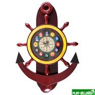 Weekend Часы настенные «Якорь» 40 см х 61 см, деревянные, интернет-магазин товаров для бильярда Play-billiard.ru. Фото 1