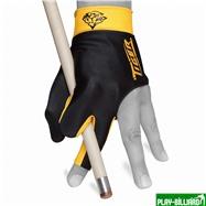 TIGER Перчатка бильярдная «Tiger» (черно-желтая) XL, интернет-магазин товаров для бильярда Play-billiard.ru. Фото 2