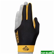 TIGER Перчатка бильярдная «Tiger» (черно-желтая) XL, интернет-магазин товаров для бильярда Play-billiard.ru. Фото 1