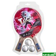 Weekend Набор для настольного тенниса «Taichi», (2 ракетки, 3 мяча), для интенсивных тренировок, интернет-магазин товаров для бильярда Play-billiard.ru. Фото 1
