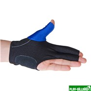 Weekend Перчатка бильярдная «K-1» (черно-синяя, вставка кожа), интернет-магазин товаров для бильярда Play-billiard.ru. Фото 4