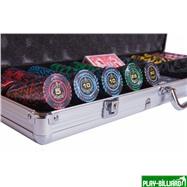 Набор для покера Lux на 500 фишек, интернет-магазин товаров для бильярда Play-billiard.ru. Фото 5