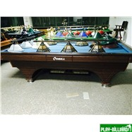 Weekend Бильярдный стол для карамболя «Hollywood» 8,5 ф (кофе, плита 50мм), интернет-магазин товаров для бильярда Play-billiard.ru. Фото 1