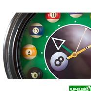 Weekend Часы настенные «12 шаров» D30 см (черные), металл, интернет-магазин товаров для бильярда Play-billiard.ru. Фото 4