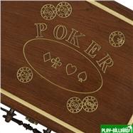 Резной кейс POKER на 200 фишек, Haleyan, интернет-магазин товаров для бильярда Play-billiard.ru. Фото 3