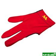 """Перчатка бильярдная """"WB"""" (черно-красная), защита от скольжения, интернет-магазин товаров для бильярда Play-billiard.ru"""