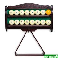 Полка для шаров и треугольника (дуб, темно-коричневая), интернет-магазин товаров для бильярда Play-billiard.ru. Фото 2