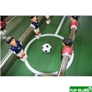 Настольный футбол (кикер) «Chelsea» (140x76x86, серебристо-синий, складной), интернет-магазин товаров для бильярда Play-billiard.ru. Фото 2