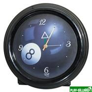 Часы настенные (черные), интернет-магазин товаров для бильярда Play-billiard.ru. Фото 1