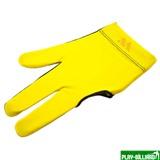 Weekend Перчатка бильярдная «WB» (черно-желтая), защита от скольжения, интернет-магазин товаров для бильярда Play-billiard.ru