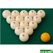 "Classic Комплект шаров 60.3 мм ""Classic А-качество"", интернет-магазин товаров для бильярда Play-billiard.ru. Фото 2"