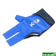 Weekend Перчатка бильярдная «K-1» (черно-синяя, вставка кожа), интернет-магазин товаров для бильярда Play-billiard.ru. Фото 1