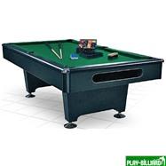 Weekend Бильярдный стол для пула «Eliminator» 8 ф (черный) в комплекте, аксессуары + сукно, интернет-магазин товаров для бильярда Play-billiard.ru