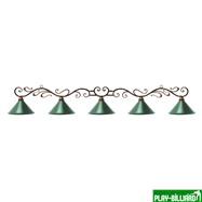 Weekend Лампа на пять плафонов «Антик», интернет-магазин товаров для бильярда Play-billiard.ru. Фото 1