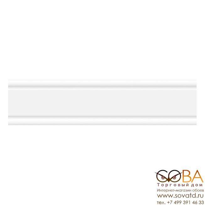 Бордюр Lira  керамик белый 02 6х25 купить по лучшей цене в интернет магазине стильных обоев Сова ТД. Доставка по Москве, МО и всей России