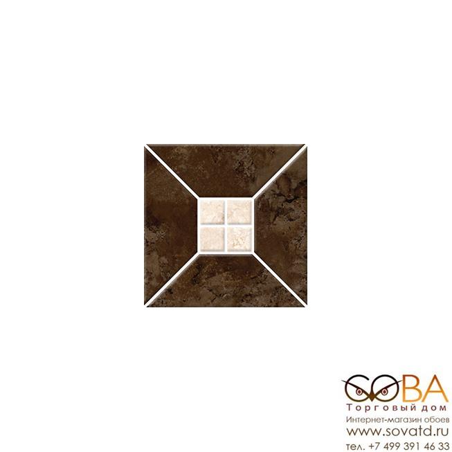 Плитка Риальто 3Т тип 2  настенная коричневая 20х20 купить по лучшей цене в интернет магазине стильных обоев Сова ТД. Доставка по Москве, МО и всей России