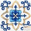 Вставка Капри  напольная майолика STG\A486\1146 9,9х9,9, интернет-магазин Sportcoast.ru