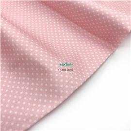 Горошек белый на розовом 1 мм