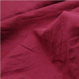 Конопляная ткань цвет фуксия №90